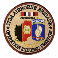 173rd Airborne Brigade Operation Enduring Freedom Patch