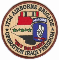 173rd Airborne Brigade Operation Iraqi Freedom Patch