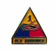 1st Armored Division Pin