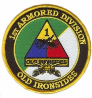 1st Armored Division with Crossed Sabres Patch