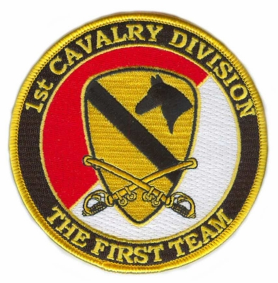 1st Cavalry Division Patch with Sabres