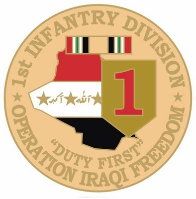 1st Infantry Division Operation Iraqi Freedom Pin