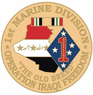 1st Marine Corps Division Operation Iraqi Freedom Pin