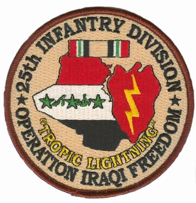 25th Infantry Division Operation Iraqi Freedom Patch