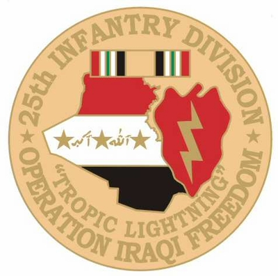 25th Infantry Division Operation Iraqi Freedom Pin