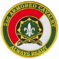 2nd Armored Cavalry Patch with Sabres
