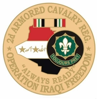 2nd Armored Cavalry Regiment Operation Iraqi Freedom Pin