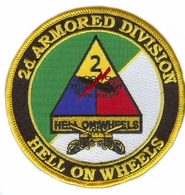 2nd Armored Division with Crossed Sabres Patch