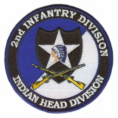2nd Infantry Division Patch with Rifles