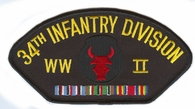 34th Infantry Division WWII Hat Patch
