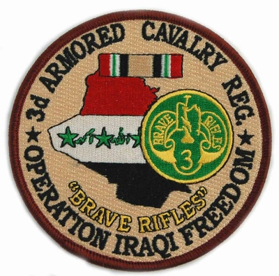 3rd Armored Cavalry Regiment Operation Iraqi Freedom Patch