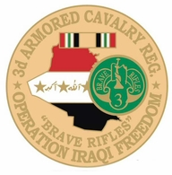 3rd Armored Cavalry Regiment Operation Iraqi Freedom Pin