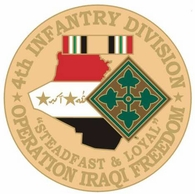 4th Infantry Division Operation Iraqi Freedom Pin