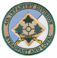 4th Infantry Division Patch with Rifles