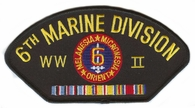 6th Marine Division WWII Hat Patch