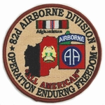 82nd Airborne Division Operation Enduring Freedom Patch
