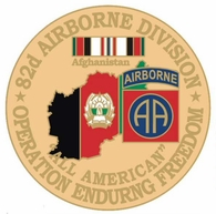82nd Airborne Division Operation Enduring Freedom Pin