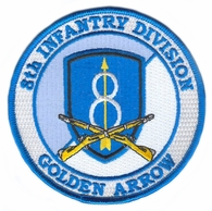 8th Infantry Division Patch with Rifles