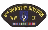 8th Infantry Division WWII Hat Patch