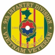 9th Infantry Division Vietnam Veteran Pin