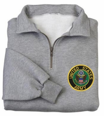 Army Patch 1/4 Zip Pullover