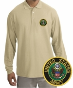 Army Patch Long Sleeve Polo