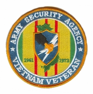 Army Security Agency Vietnam Veteran Patch