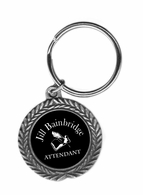 Attendant Pewter Key Ring