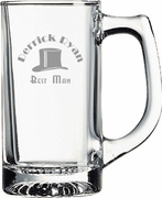Best Man Glass Engraved Mug