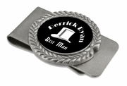 Best Man Pewter Money Clip
