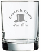 Best Man Rocks Glass