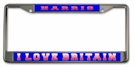 British License Plate Frame