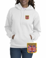 British Patch Crest Hooded Sweatshirt