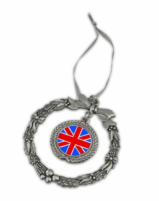 British Pewter Holiday Ornament