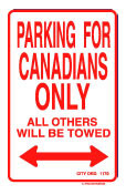 Canada Parking Sign