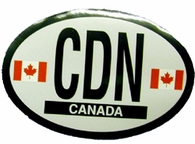 Canada Reflective Oval Auto Decal
