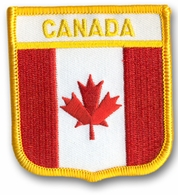 Canadian Crest Flag Patch