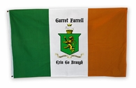 Family Crest Irish Flag