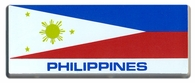 Filipino Flag Bar Sticker