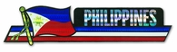 Filipino Flag Bumper Sticker