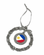 Filipino  Pewter Holiday Ornament