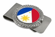 Filipino  Pewter Money Clip