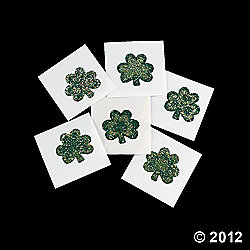 Glitter Shamrock Tattoo