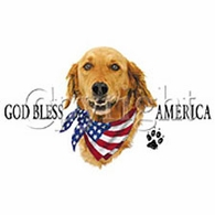 God Bless America - Golden Retriever Shirt