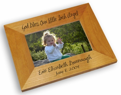 God Bless Our Little Irish Angel Picture Frame