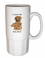 Golden Retriever Ceramic Steins