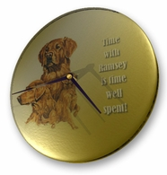 Golden Retriever Glass Clock