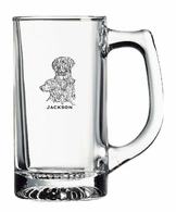Golden Retriever Glass Engraved Mug