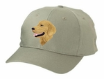 Golden Retriever Head Shot Cap