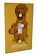 Golden Retriever Light Switch Cover